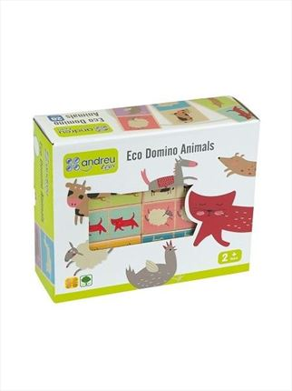 ANDREU TOYS Eco domino animales